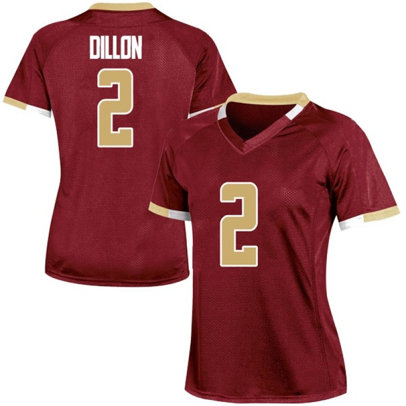 Game Women's AJ Dillon Boston College Eagles Maroon Team Color College Jersey