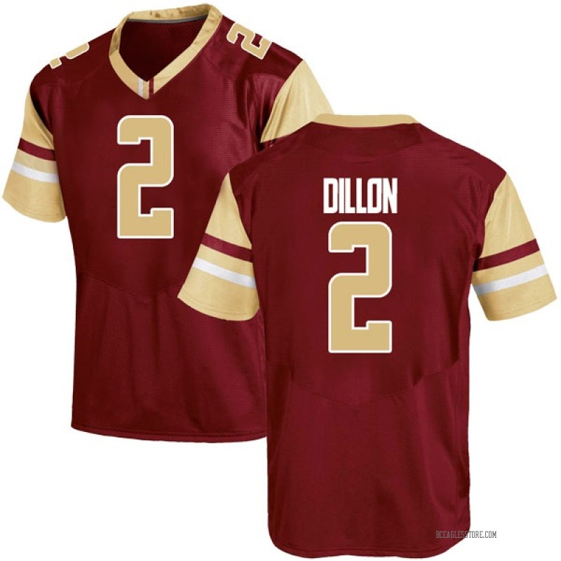 Game Youth AJ Dillon Boston College Eagles Maroon Team Color College Jersey