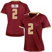 Replica Women's AJ Dillon Boston College Eagles Maroon Team Color College Jersey